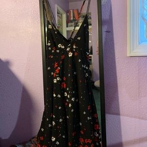 Little black dress with flowers